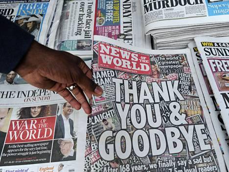 Murdoch lakkautti News of the Worldin noin kaksi viikkoa sitten.