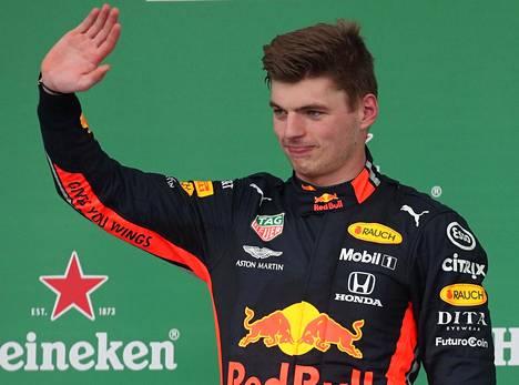 Max Verstappen saavutti kauden kolmannen F1-voittonsa viime sunnuntaina Interlagosin radalla Brasiliassa.