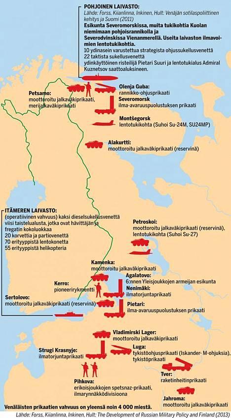 Venäjän sotilaallinen kiinnostus on kohdistunut viime vuosina entistä enemmän Suomen lähialueille, kerrottiin 2013 julkaistussa Maanpuolustuskorkeakoulun strategian laitoksen The Development of Russian Military Policy and Finland -raportissa.