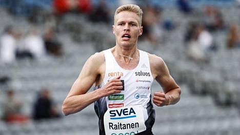 Topi Raitanen juoksi Monacossa uransa ensimmäisen Timanttiliigan kisan. Kuva Lahden kutsukilpailuista kesäkuun alusta.