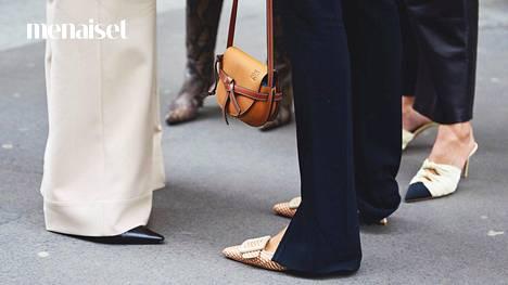Tyylinäyte vallitsevasta kenkämuodista muotiviikoilta.