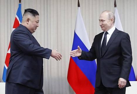 Kim Jong-un ja Vladimir Putin tapasivat ensi kertaa.