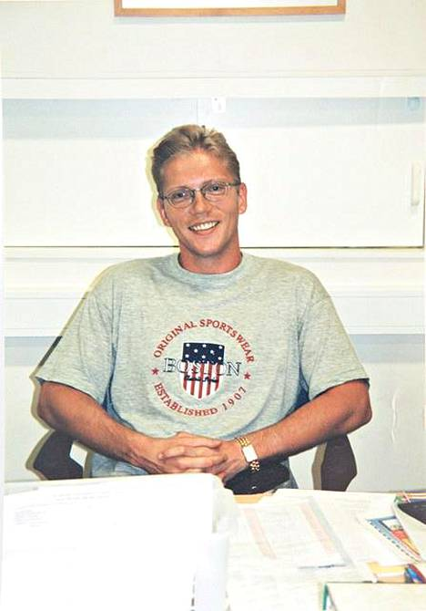 Vesa Keskinen vuonna 2000, eli 33-vuotiaana.