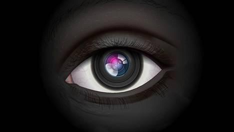 Skannaus tehdään silmän valkoisesta osasta. Kuvituskuva.