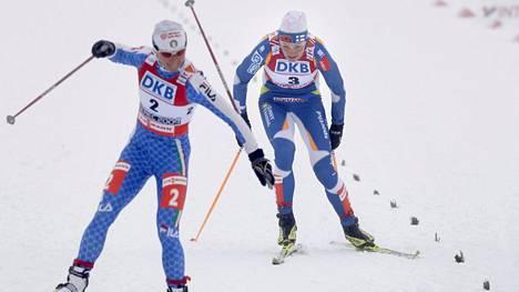 Pirjo Muranen (oik.) otti sprintin MM-pronssia 2009. Sprinttimitali Oberstdorfissa on yhtä todennäköinen kuin suomalainen kuulento.