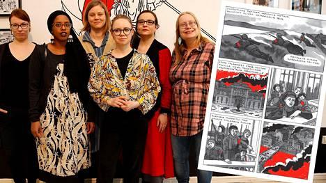 Reetta Laitinen (oik.) keräsi kymmenen piirtäjää kertomaan naisten tarinoita sodasta 1918.