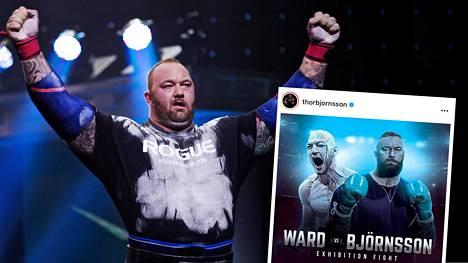 Hafþór Júlíus Björnsson debytoi nyrkkeilykehässä tammikuussa.