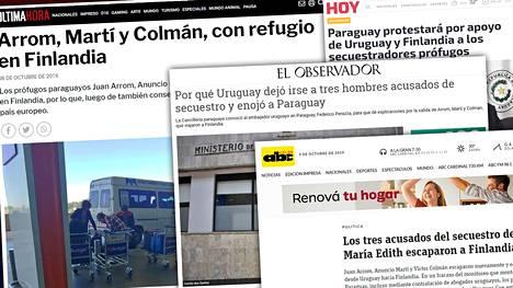 Tapaus on ollut herättänyt paljon huomiota Paraguayn ja Uruguayn mediassa.