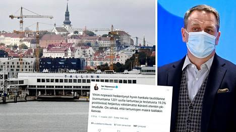 Jan Vapaavuori on huolissaan Viron koronatilanteesta.