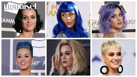 Katy Perry on tukkakokeilujen kuningatar.