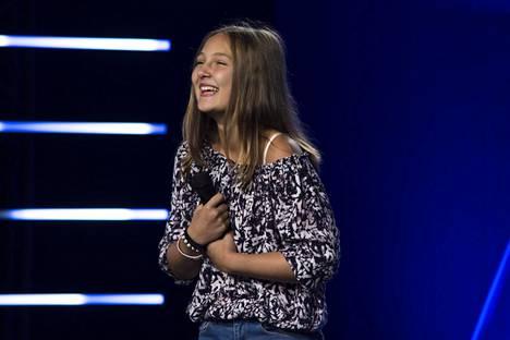 13-vuotias Kelly Draffan tekee kovaa jälkeä Talent Suomen avausjaksossa.