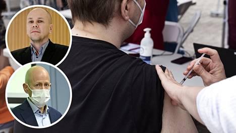 Rokotetut ovat valtaosin hyvässä suojassa koronavirukselta. Rokottamattomia vaanii Mika Rämetin (pieni kuva ylh.) ja Otto Helveen mukaan alati uhka sairastumisesta – ja huonolla onnella tautimuoto voi olla vakava.