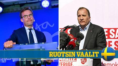 Joko sosiaalidemokraattien Stefan Löfvenille (kuva oik.) tai maltillisen kokoomuksen Ulf Kristerssonille (kuva vas.) tarjoutuu ensimmäinen mahdollisuus muodostaa hallitus.