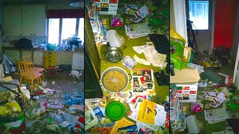 Kuvia keittiöstä ja eteisestä.