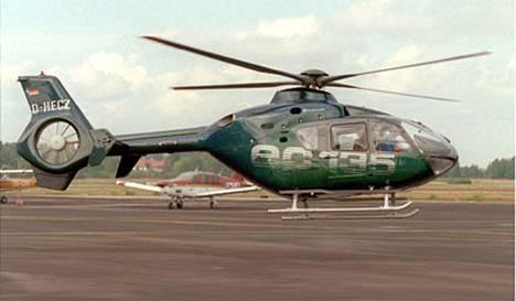 Tuhoutunut poliisihelikopteri oli tämän tyyppinen Eurocopter EC 135.