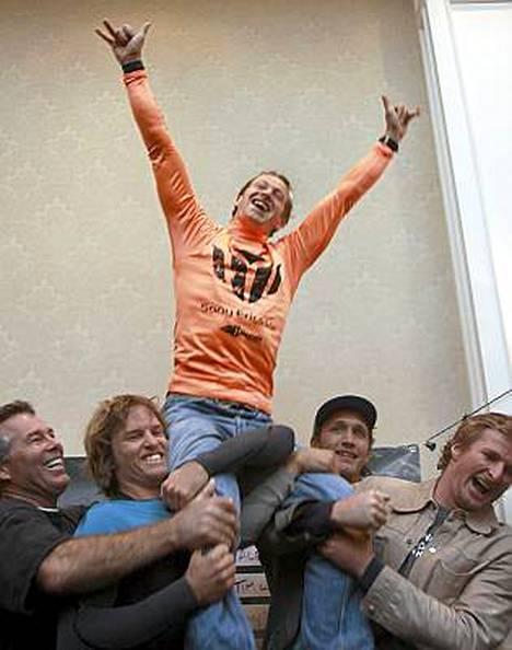 Chris Bertish voitti tämän vuoden Half Moonin lainelautailukilpailun.