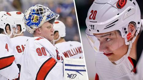 David Ayres oli NHL:n suurin tähti lauantaina. Sebastian Aho pääsi todistamaan tarunhohtoista tarinaa.