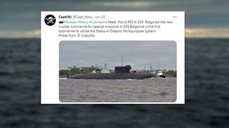 184-metrinen Belgorod on tiettävästi suurin maailmassa kehitetty uusi sukellusvene 30 vuoteen