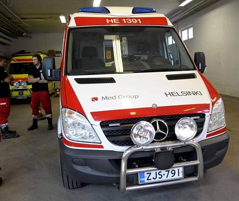 Med Groupin ambulanssi Malmilla 2014.