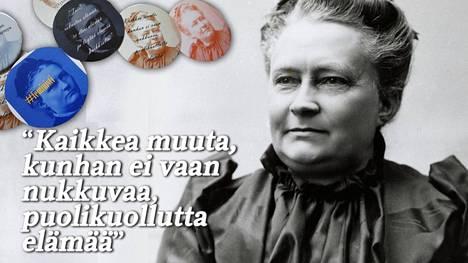 Pinsseissä on rajuja, mutta myös herkempiä sanontoja aikansa naisasianaiselta, anarkistilta ja tasa-arvon kannattajalta, Minna Canthilta.