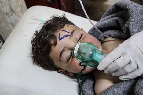 Kuvat Syyrian kaasuhyökkäyksessä loukkaantuneista ovat Eric Trumpin mukaan järkyttäneet hänen sisartaan ja isäänsä.