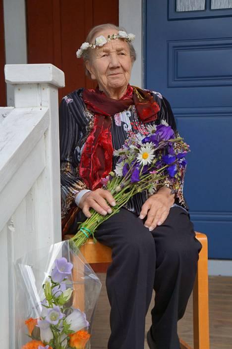 Edit Grön kuvattiin 90-vuotispäivänään.