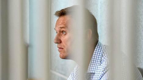 Kesällä 2019 otetussa arkistokuvassa Aleksei Navalnyi osallistui oikeuden istuntoon, jossa käsiteltiin hänen osallistumistaan laittomaan mielenosoitukseen.