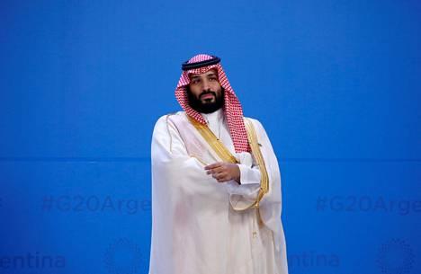 Mohammed bin Salman kuuluu G20-kokouksen seuratuimpiin hahmoihin.