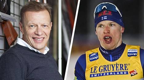 Ilta-Sanomien hiihtoasiantuntija Harri Kirvesniemi (vas.) uskoo, että Tour de Skin väliin jättäminen palvelee optimaalisesti Iivo Niskasen valmistautumista MM-kilpailuihin.