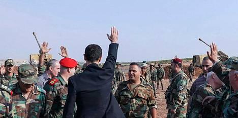 Presidentti Assad asevoimat hallitsevat valtaosaa Syyriasta.