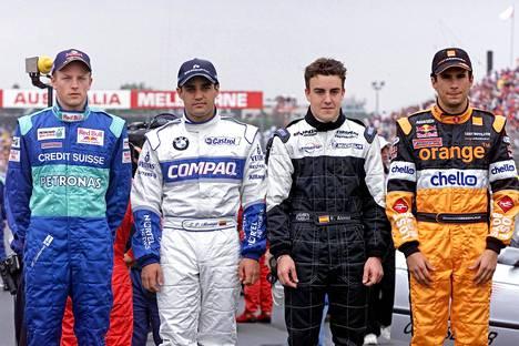 Kimi Räikkönen, Juan Pablo Montoya, Fernando Alonso ja Enrique Bernoldi olivat Australian GP:n 2001 F1-debytantit.