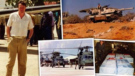 Ilpo Mikkola (vasemmalla) näki ja koki sodan yli vuoden kestäneellä YK-komennuksellaan Mogadishussa vuosina 1993–1994.
