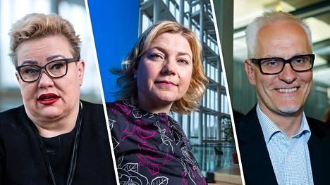 Sirpa Pietikäinen, Henna Virkkunen ja Petri Sarvamaa ovat kokoomuksen vanhoja kettuja.