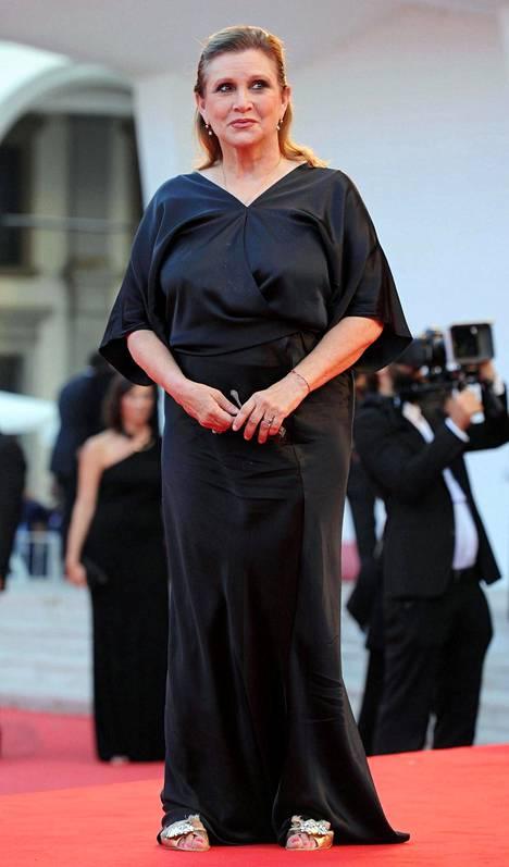 Carrie Fisher Venetsian elokuvajuhlilla elokuussa 2013.