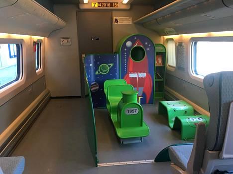 Lasten leikkitila näyttää nykyisin tältä. Remontissa ilme nykyaikaistetaan.