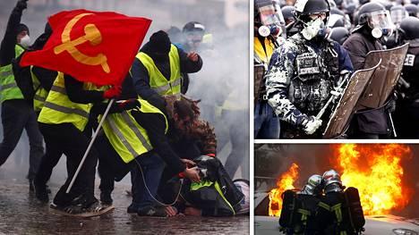 Ranskassa keltaliivien protesteihin osallistui lauantaina maanlaajuisesti noin 84000 ihmistä.