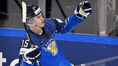 Anton Lundell oli MM-kisoissa Leijonien paras pistemies tehtyään kymmenessä ottelussa pisteet 4+3=7.
