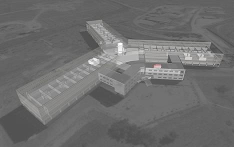 Amnestyn raporttiin laadittiin vankien kuvailun perusteella kolmiulotteinen malli Saidnayasta.