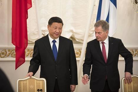 Kiinan presidentti Hi Jingping oli valtiovierailulla Suomessa vuonna 2017.