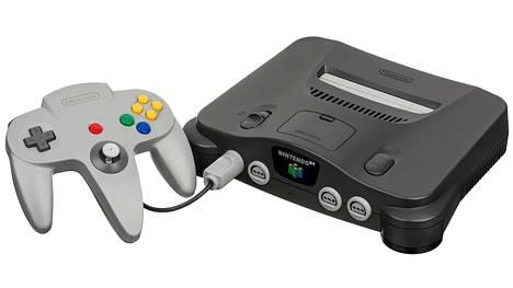 Alkuperäinen Nintendo 64 julkaistiin vuonna 1996.
