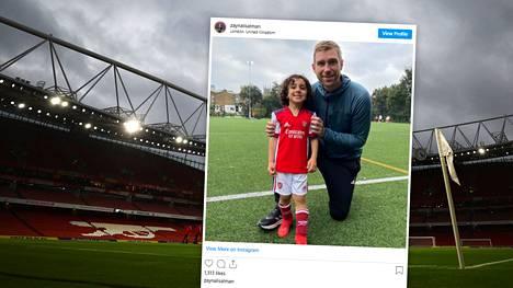 Arsenal-ikoni Per Mertesacker poseerasi Zayn Ali Salmanin kanssa.