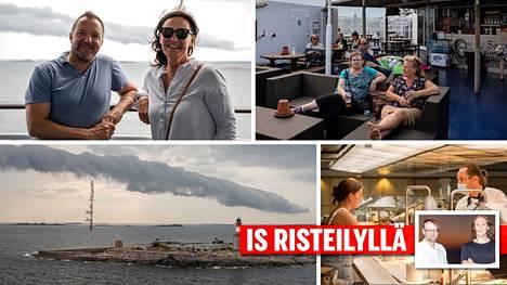 Viking Linen Gabriella-aluksen käytävillä ja ravintoloissa oli hyvin väljää.