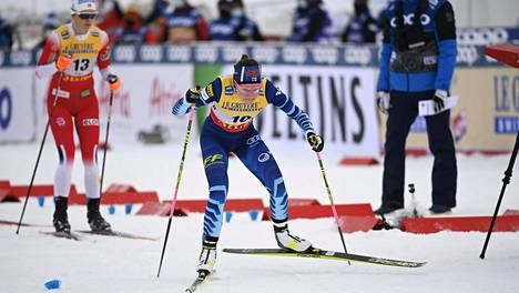 Kerttu Niskanen hiihti Rukan raikkaassa talvisäässä käydyn minikiertueen yhdeksänneksi.