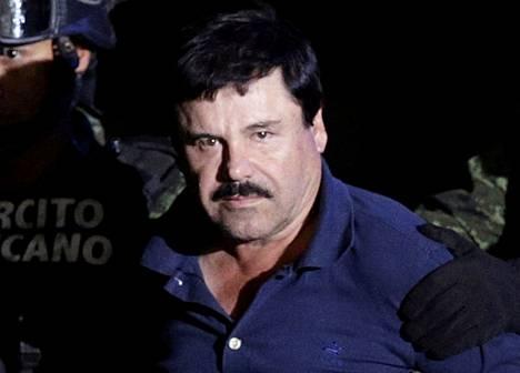 """Joaquin """"El Chapo"""" Guzmán otettiin kiinni vankilapakonsa jälkeen tammikuussa 2016."""