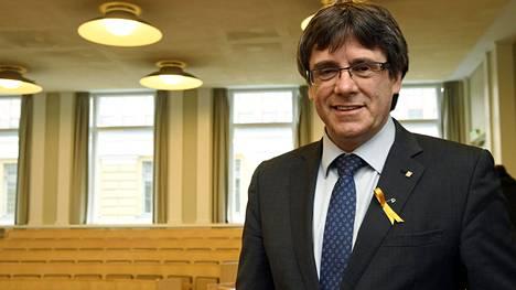 Carles Puigdemont piti luennon Helsingin yliopistossa.