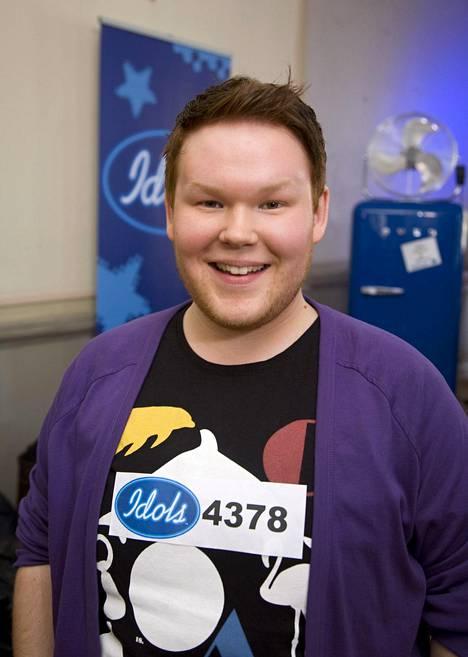 Ville Niskanen Idolsin teatteriviikonlopussa Helsingissä syyskuussa 2008.