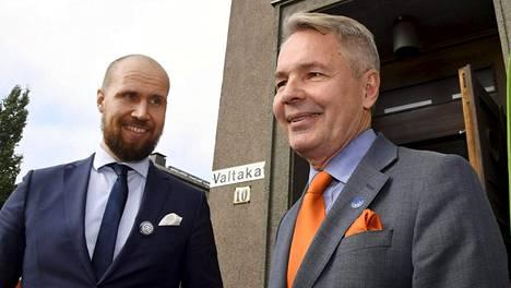 Touko Aalto (vas.) ja Pekka Haavisto kommentoivat Ilta-Sanomille puolueen tuoretta gallup-menestystä.