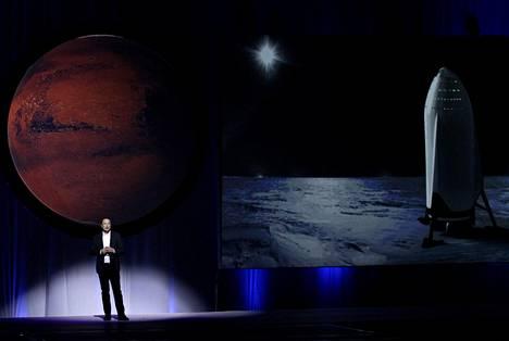 Elon Musk kertoi SpaceX:n uskomattomalta kuulostavasta Mars-hankkeesta.