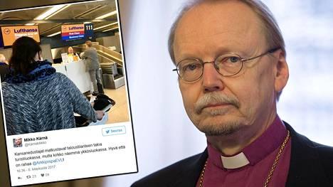 Arkkipiispa Kari Mäkisen matkustustavasta nousi somekohu.