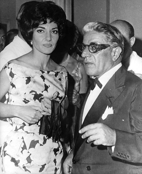 Maria Callas ja Aristoteles Onassis kuvattuna vuonna 1959.
